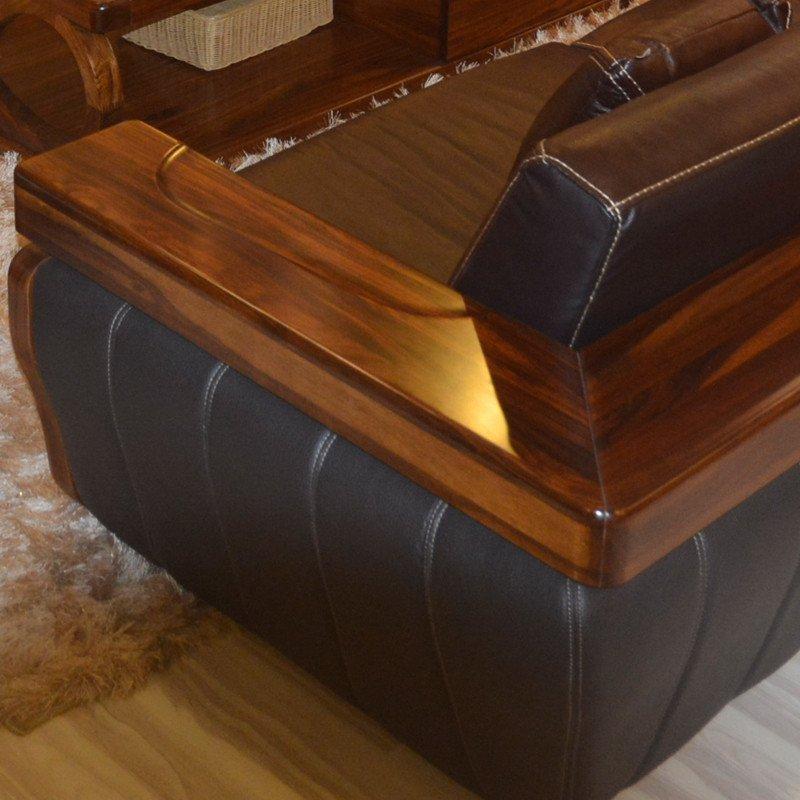乌金木实木沙发