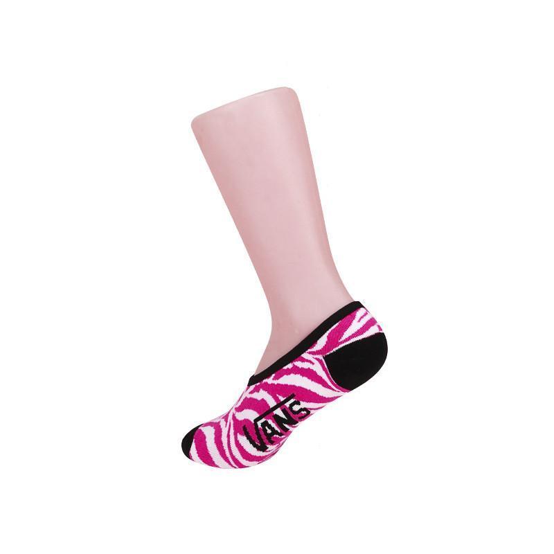 vans/范斯正品春季粉色斑马纹/女款袜子|vn-01lgg3k