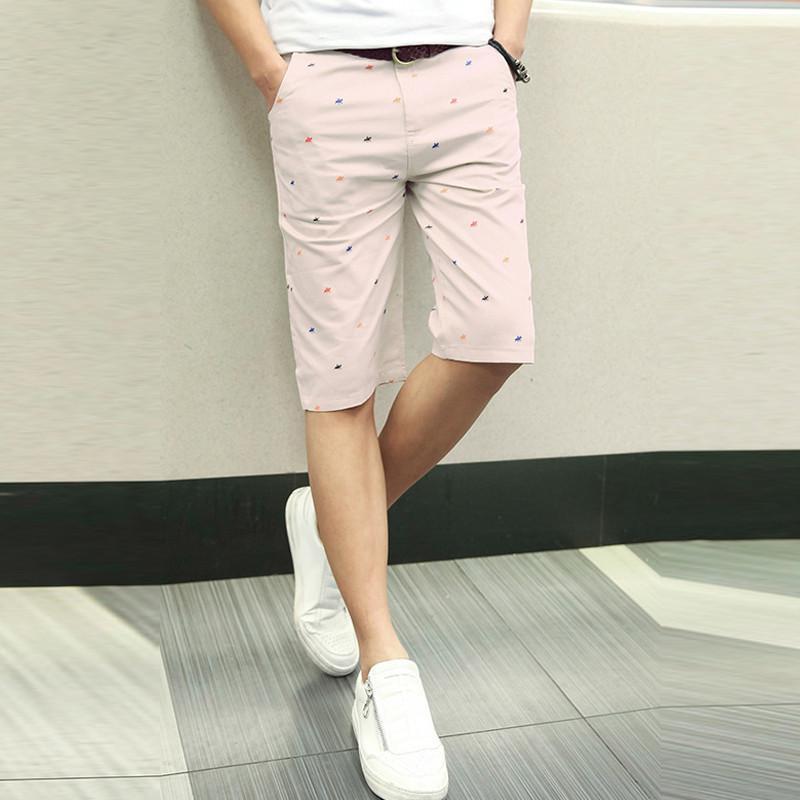 2015夏装新款五分男士中裤韩版修身沙滩裤纯棉