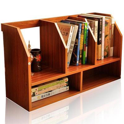 雅客居桌上二层小书架木制简易办公室书架置物架学生书架整理架