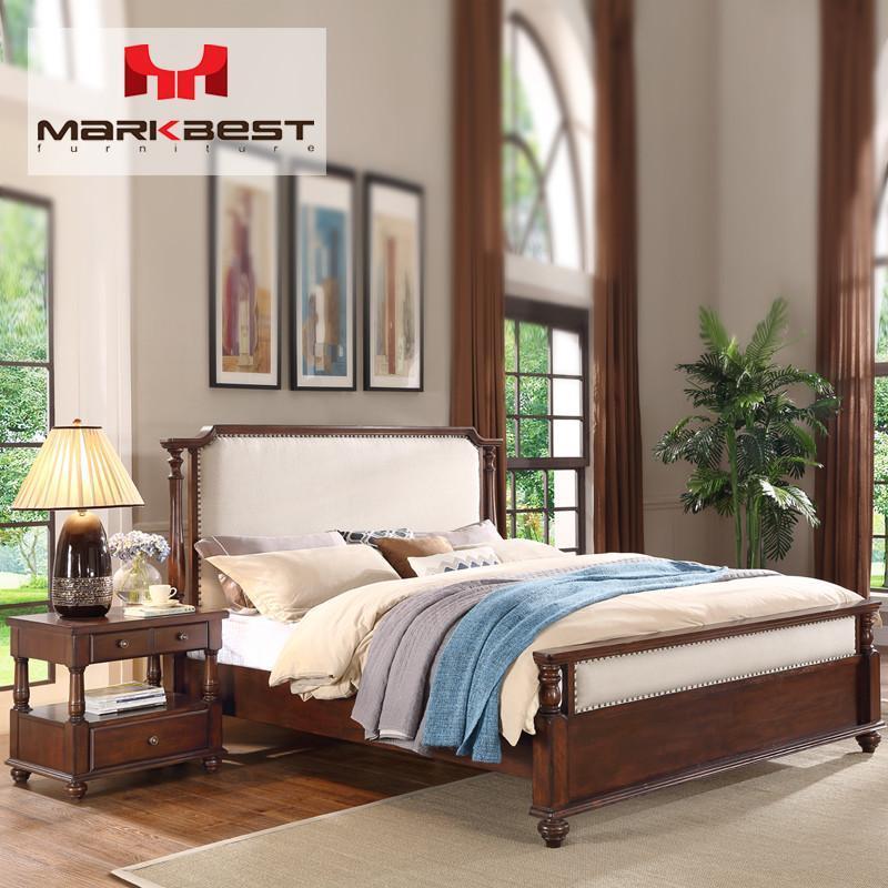 品之印家具 美式实木床头柜现代简约床边柜欧式沙发