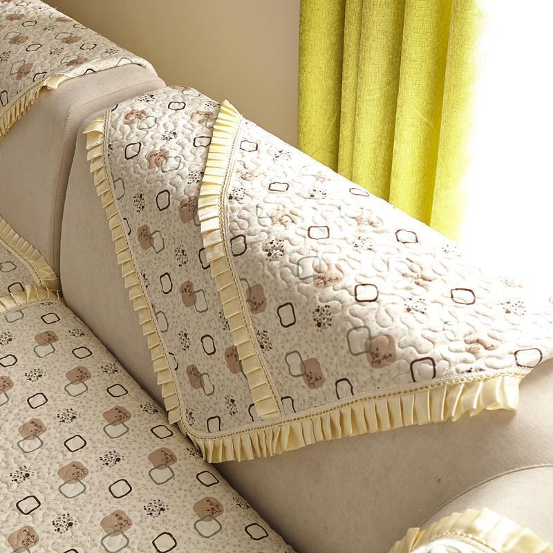 花边秋季沙发垫布艺时尚沙发凉席防滑高档皮沙发套巾
