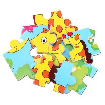 小皇帝 木质卡通动物拼图 9块智力拼板 儿童益智早教玩具 长颈鹿pg99