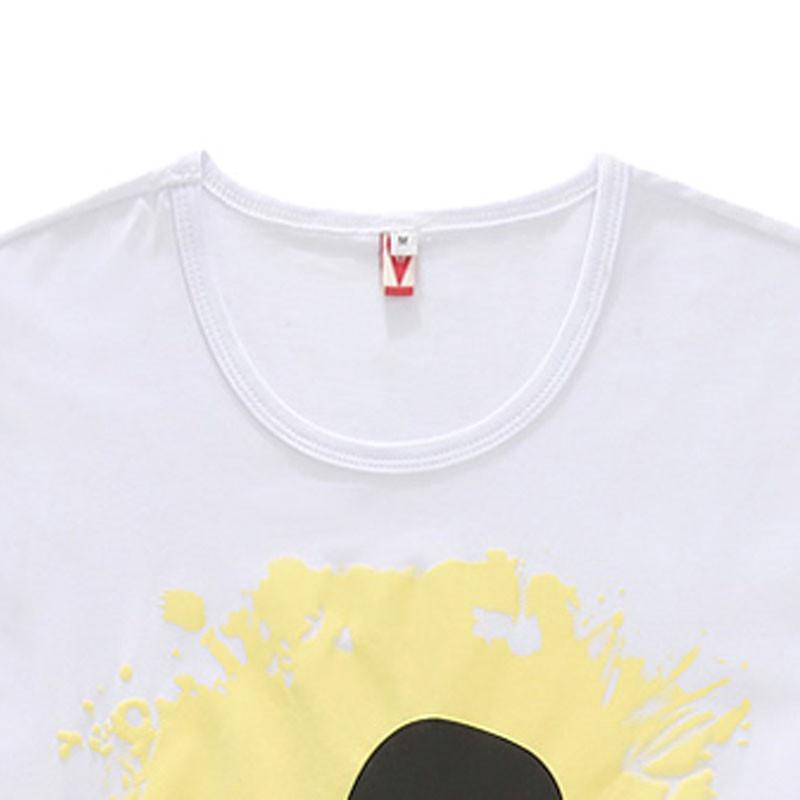 2015夏季情侣短袖t恤男士加肥加大码可爱卡通半袖胖人韩版修身潮男装