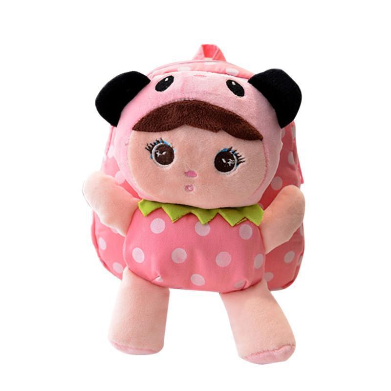 咔米嗒 韩版可爱儿童书包幼儿园男女童卡通娃娃小孩子双肩毛绒背包小