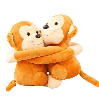 安吉宝贝情侣悠嘻猴子毛绒玩具公仔 可爱抱抱猴玩偶布娃娃 生日礼物