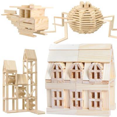 木制模型智力配对棒建筑