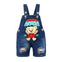 多婴儿牛仔背带裤 宝宝夏季裤子可开裆男童夏