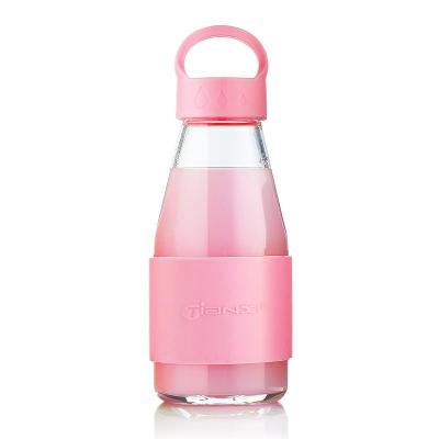 天喜玻璃杯 便携男女士可爱车载运动杯创意水瓶杯子