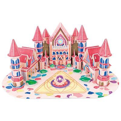 3d立体拼图纸质 diy手工绘画工具 儿童玩具益智手工拼图 赠送彩笔