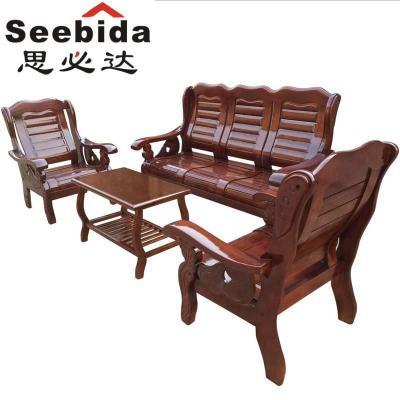 现代实木客厅沙发组合