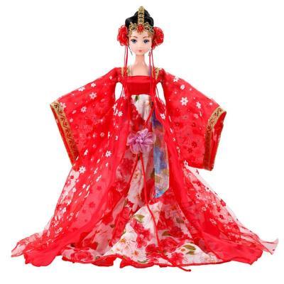 宝诚达 娇娇妮古装芭比娃娃 中国芭比娃娃玩具套装 12