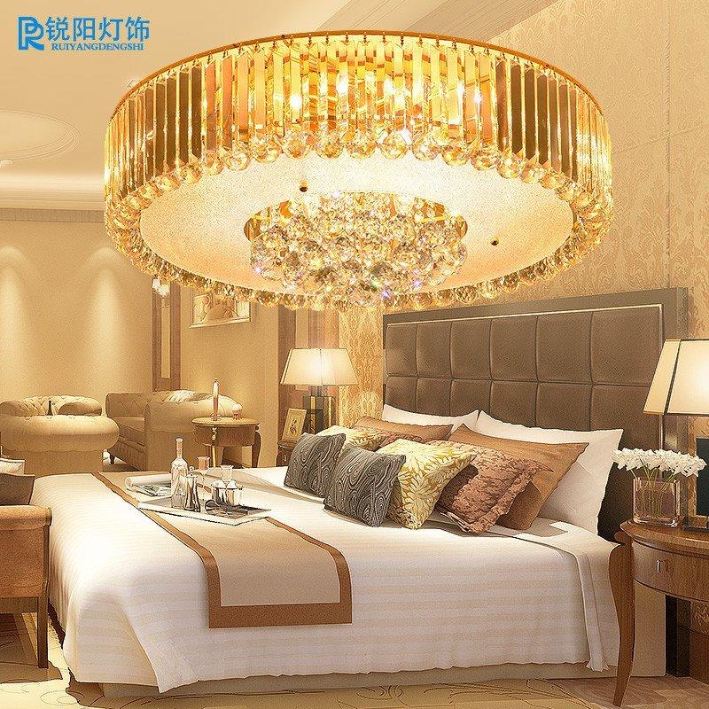 锐阳时尚艺术顶灯水晶灯卧室灯温馨现代简约客厅灯吸