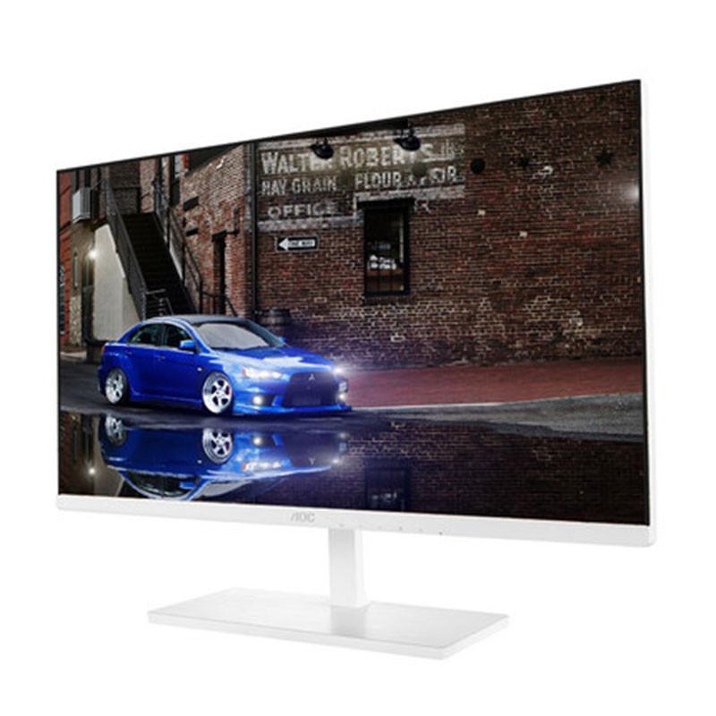 白色25英寸ips屏超窄边框护眼电脑液晶显示器