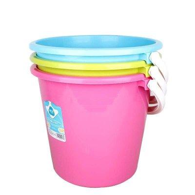 茶花家用大号加厚塑料手提水桶无盖小储水洗车洗地储