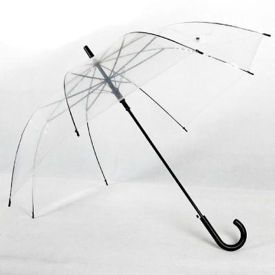 百盛洋伞加厚长柄伞晴雨伞可爱透明雨伞男透明伞jc