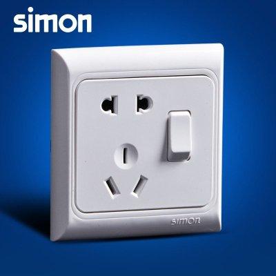 【西蒙(simon)插座 】西蒙61系列开关插座一开五孔