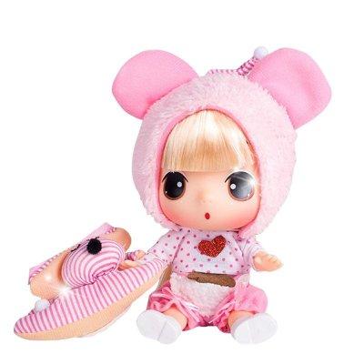 ddung冬己娃娃 来自韩国的迷糊娃娃 18cm礼盒装 小熊冬己