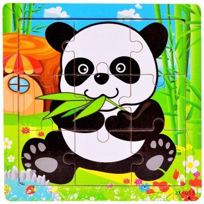 木有人 益智早教 交通工具 卡通动物 9片儿童木质拼图
