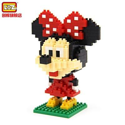 loz 钻石颗粒塑料积木 迪士尼拼装积木 9414大头米妮