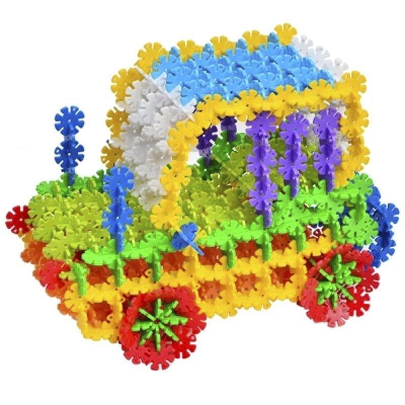 奇粤 雪花片积木儿童玩具 拼图玩具塑料拼插益智积木 小书包约300片装图片