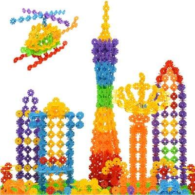 迷宫/拼图 磁力棒/磁贴 立体纸模 速翔玩具 速翔玩具积木拼插雪花片60