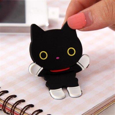 韩版卡通动物锯齿绕线器 可爱轻松熊系列集线器 (黑猫)4号