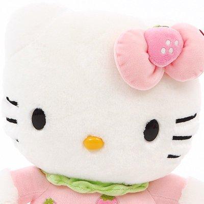 大奇水果hellokitty公仔凯蒂猫哈喽kt猫咪毛绒玩具娃娃可爱草莓款18寸