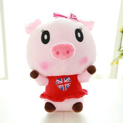 毛绒玩具情侣猪公仔抱枕可爱猪猪玩偶婚庆布娃娃一对女款50cm f