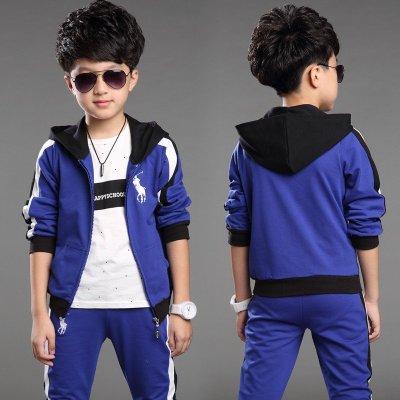 童装男童套装秋装2015新款儿童运动服3-12岁韩版女童长袖校服套装