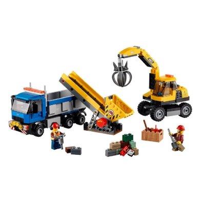 磁力棒/磁贴 立体纸模 乐高(lego) lego/乐高 城市生活 挖掘机和卡.