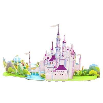 迪士尼公主立体场景拼图玩具