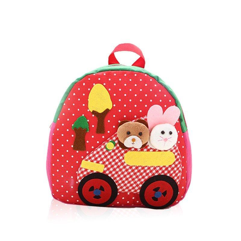 童畅儿童书包 韩版卡通双肩包包 可爱幼儿园背包 红色高清实拍图