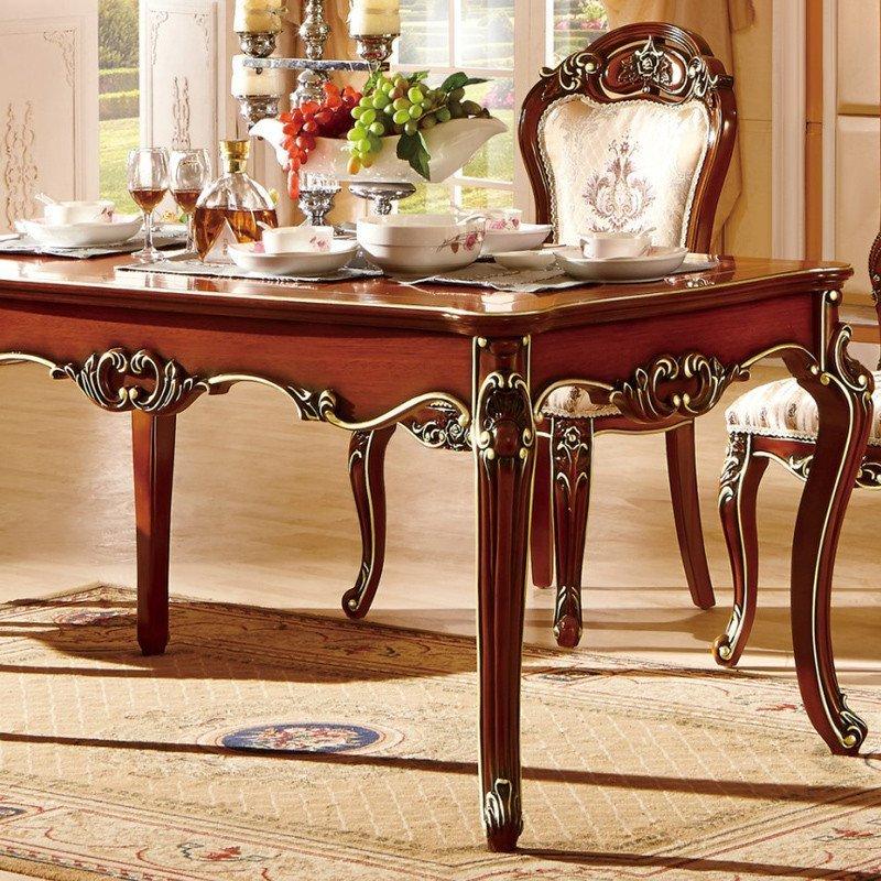 欧施洛 餐台实木餐桌欧式餐桌实木餐台椅美式古典餐台椅osl-419高清实