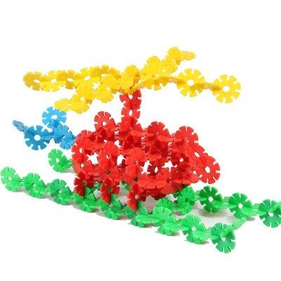 【拼插玩具 】丸子宝贝儿童玩具雪花片塑料积木拼插