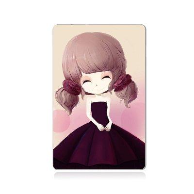enong驿能 可爱花花姑娘系列自带线充电宝 通用移动电源4000毫安(樱花