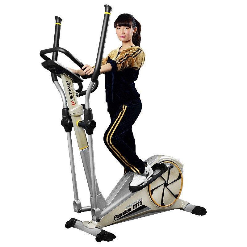 雷克椭圆机家用静音磁控健身车太空漫步登山机减肥运动健身器材 m75