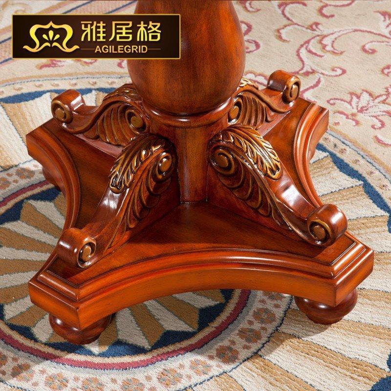 美式吧台桌实木家用吧台简约欧式高脚桌客厅小吧台la