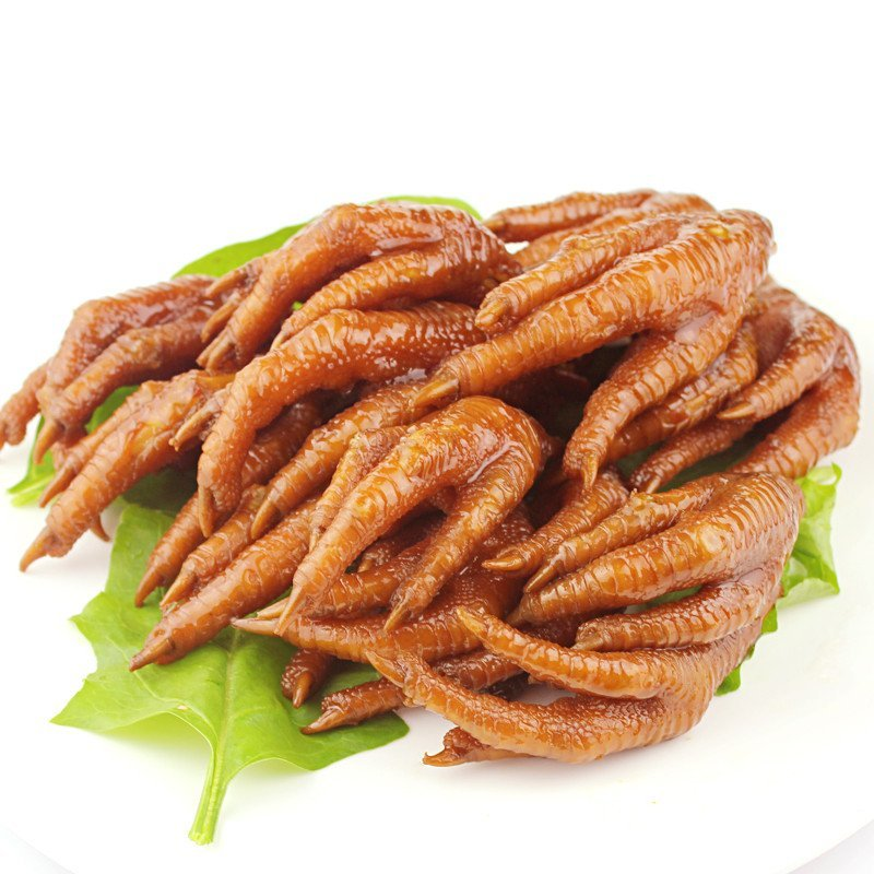 红全周洪濑鸡爪卤味零食小吃福建泉州特产鸡爪子泡椒味500g