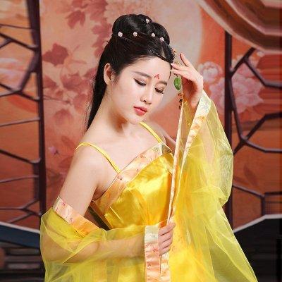时光叙 古装服装仙女汉服女装cos性感皇后女舞台演出服七仙女贵妃装