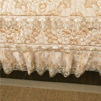 欧式沙发垫雪尼尔蕾丝花边布艺防滑