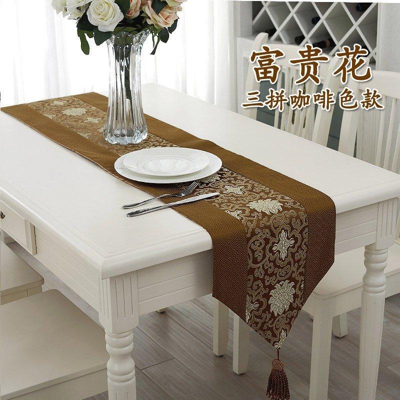 现代中式欧式桌旗简约时尚茶几布装饰布