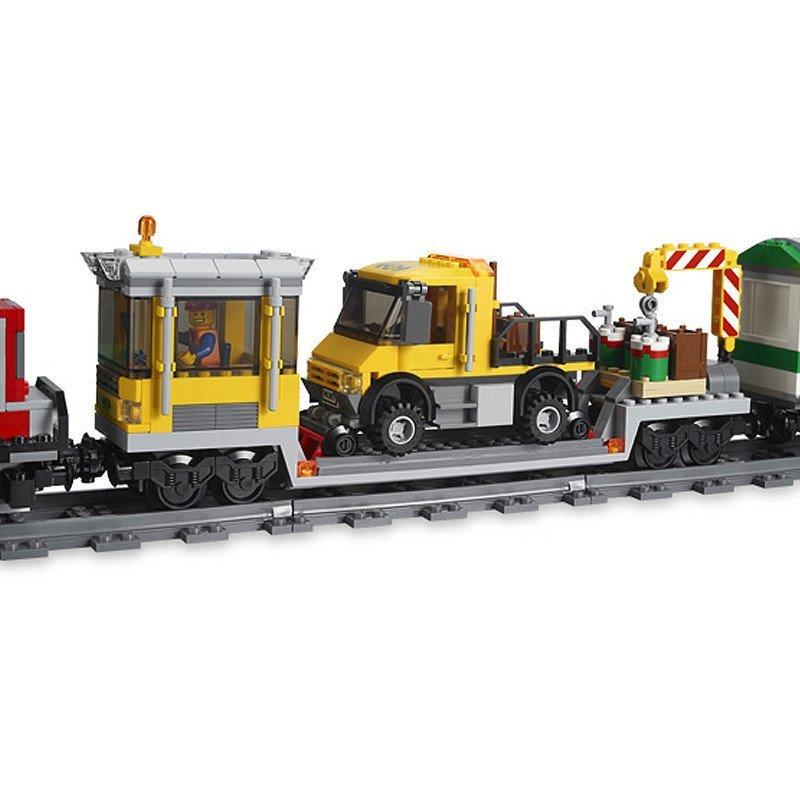 lego乐高积木玩具 城市city 红色货运火车 l3677 绝版高清实拍图