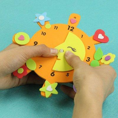手工创意钟表 儿童益智diy玩具幼儿园手工制作eva
