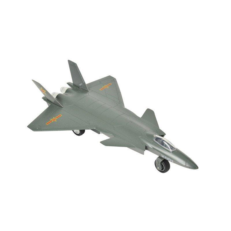 彩珀飞机合金模型儿童玩具金属战斗机客机 歼20