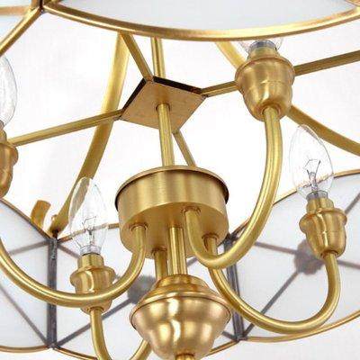 世源全铜吊灯欧式餐厅灯饰 简约书房卧室灯具灯饰pl7559 540*480(吊顶图片