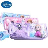 迪士尼女孩冰雪可爱笔袋小学文具盒小学生铅普通话奇缘v女孩总结图片
