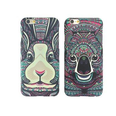 6splus手机壳 苹果磨砂夜光动物浮雕图腾彩绘保护套