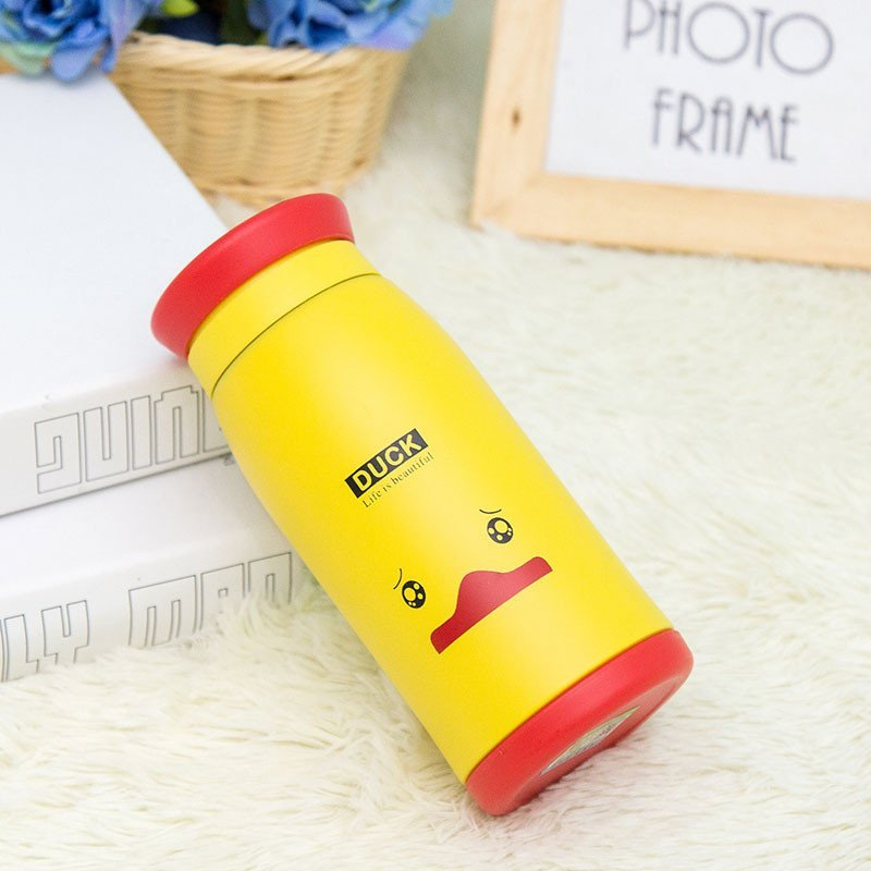 创意卡通可爱儿童女士水杯密封带盖家用随手喝水便携礼品广告logo定制