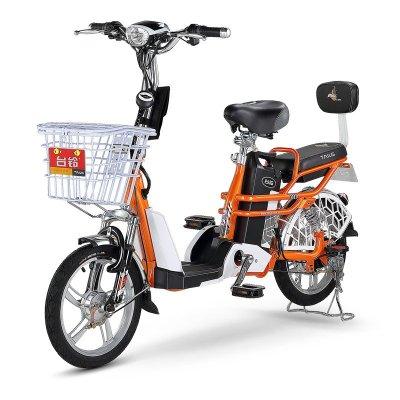 台铃电动车 小清铃二代 16寸前后减震电动自行车 48v分体式充电锂电池图片